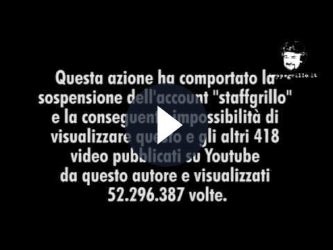 Beppe Grillo contro Google e YouTube