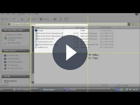 Creare e condividere screenshot con ShareCapture
