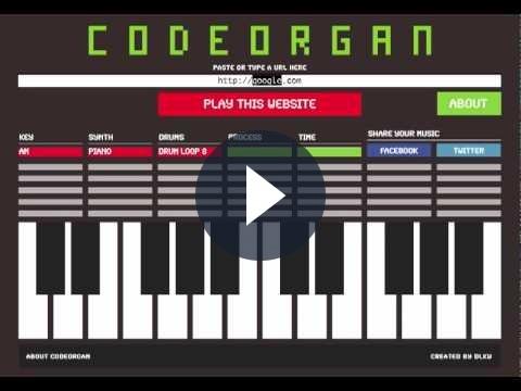 Ricavare musica da un sito internet con Codeorgan