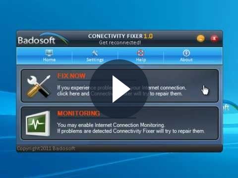 La connessione ad internet può essere monitorata con Connectivity Fixer