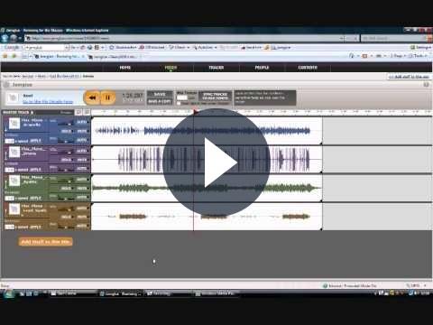 Editing audio: mixare musica online con Jamglue