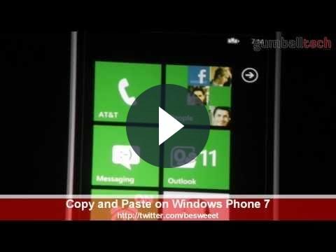 Windows Phone 7: arriva il copia e incolla